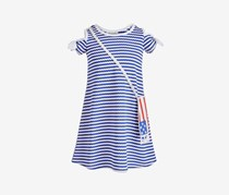 Bonnie Jean Girls 2-Pc. Striped Dress, Blue/White Stripe