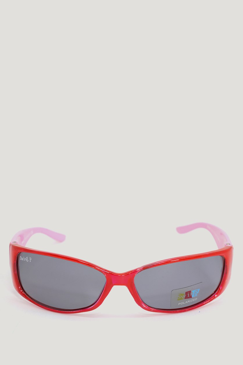 Kids Girl's SS08 Polarized Sunglasses, Red/Pink