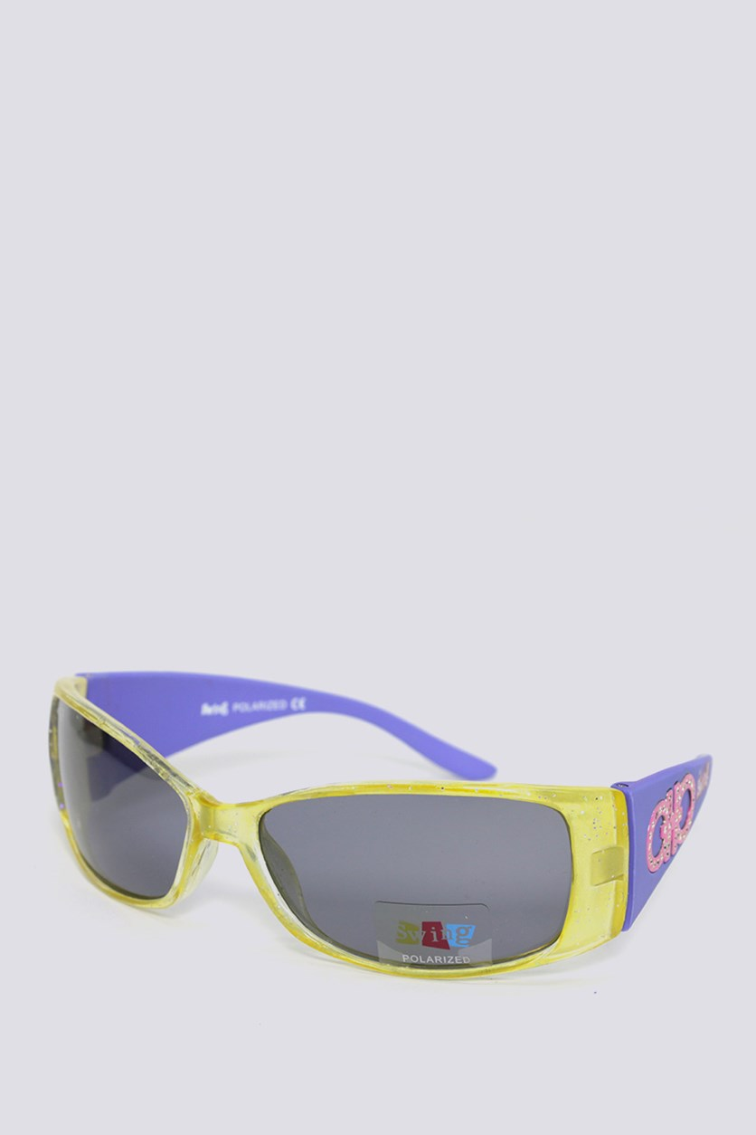 Kids SS08 Polarized Sunglasses, Yellow/Lavender