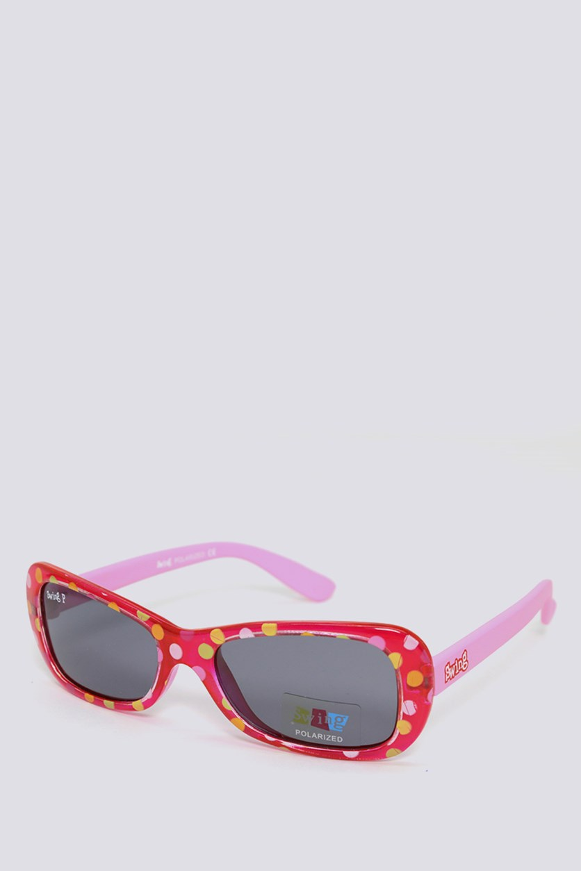 Kids SS09 Polarized Sunglasses, Red/Pink