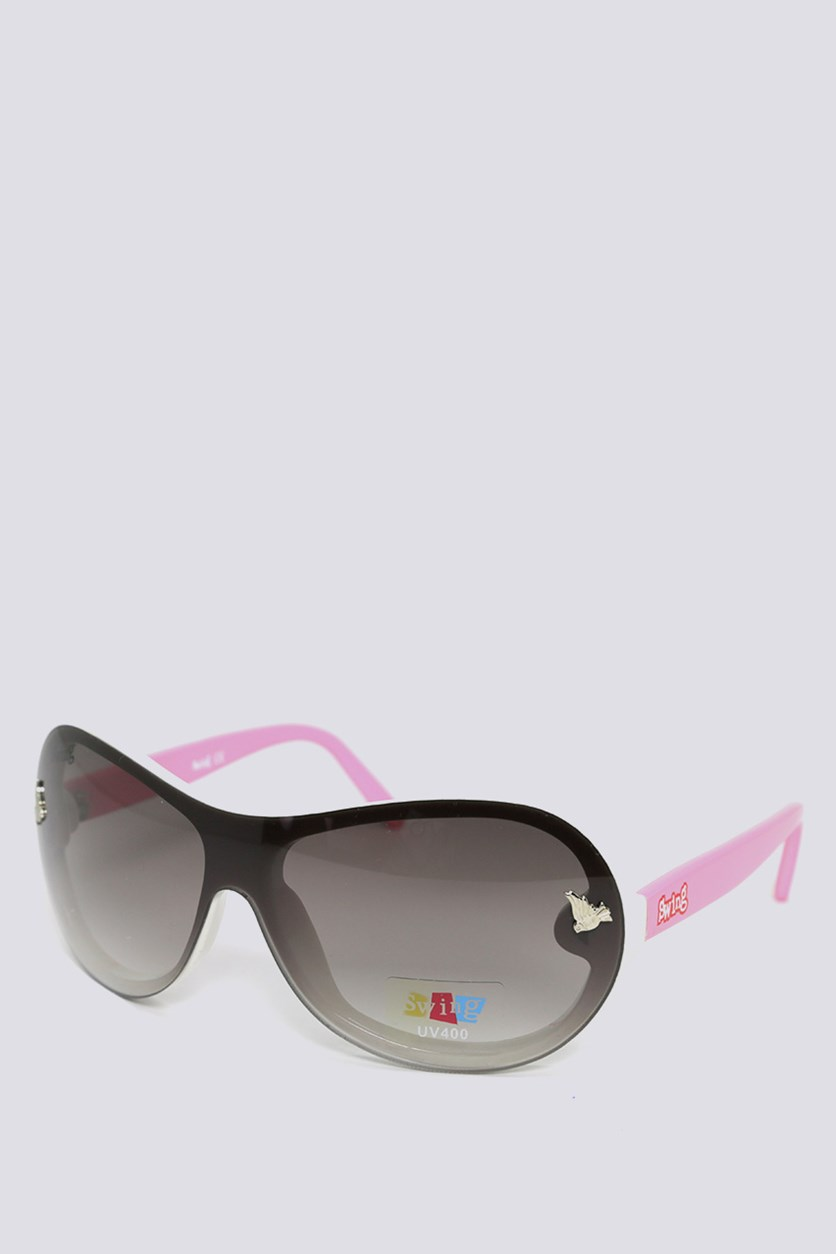 Kids SS10 Polarized Sunglasses, White/Pink