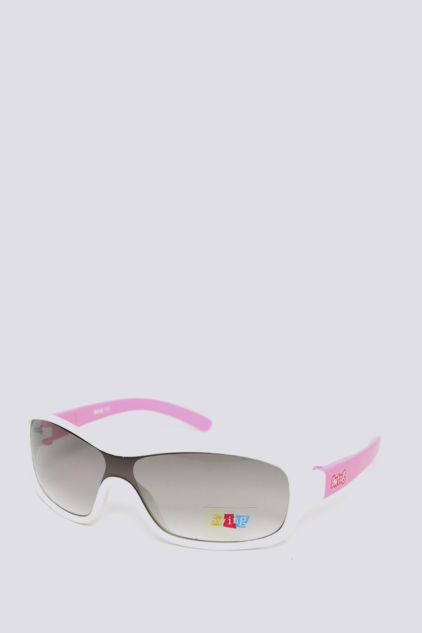 Kids SS11 Polarized Sunglasses, White/Pink