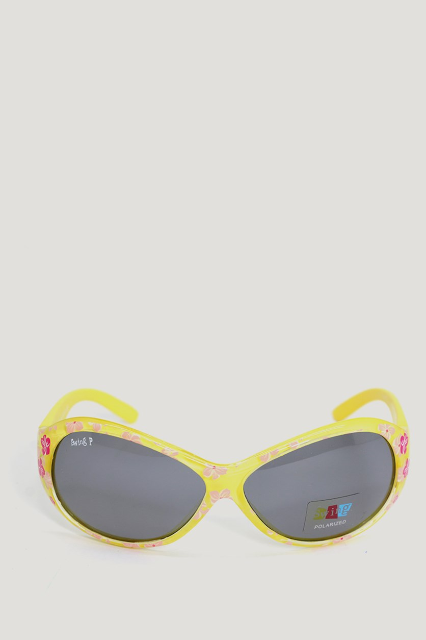 Kids Girl's SS12 Polarized Sunglasses, Yellow