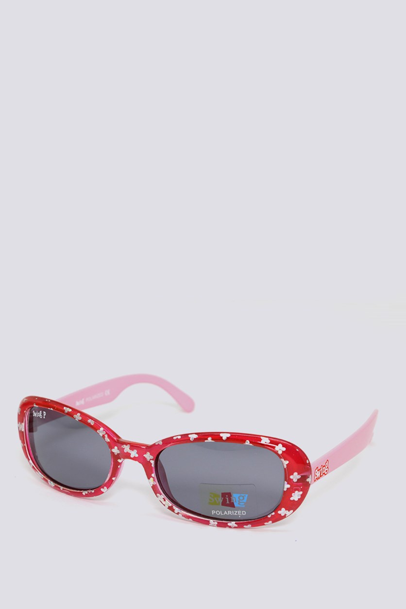 Kids SS13 Polarized Sunglasses, Red/Pink