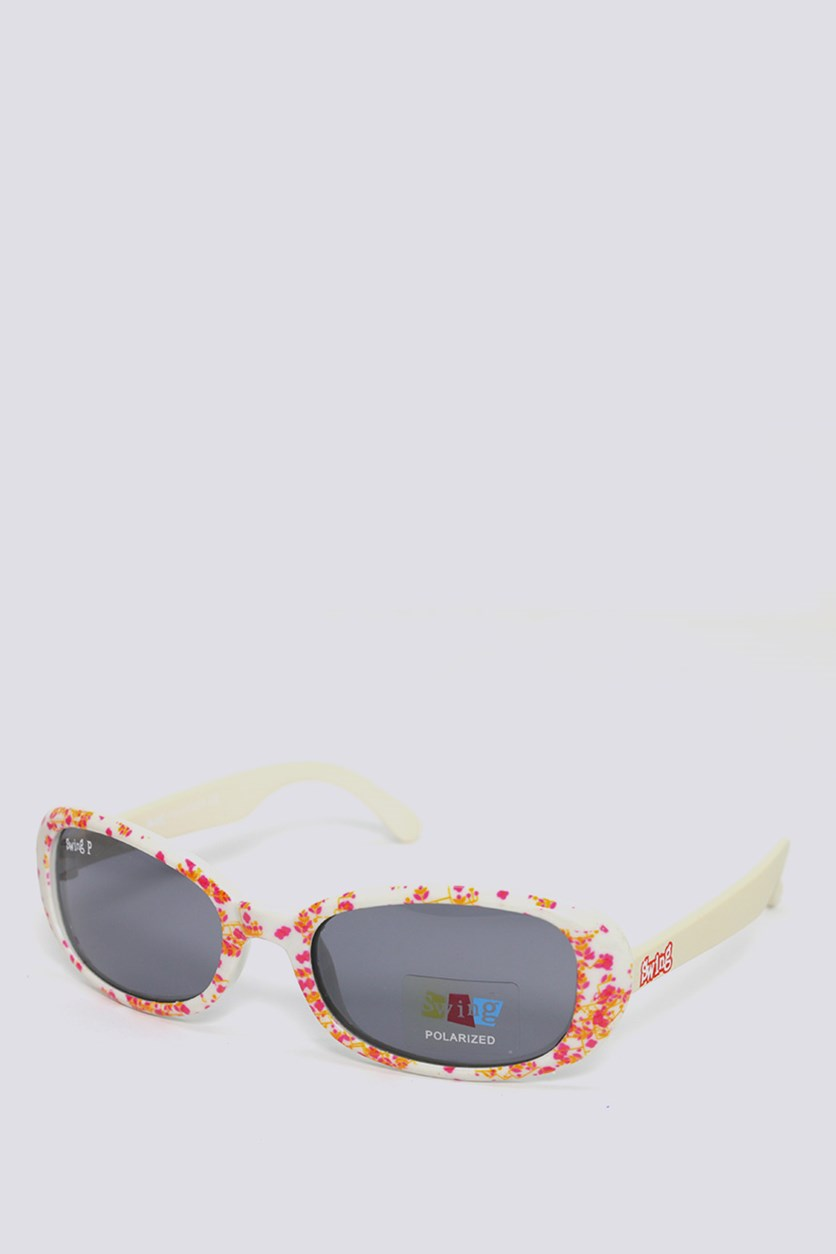 Kids SS13 Polarized Sunglasses, White Combo