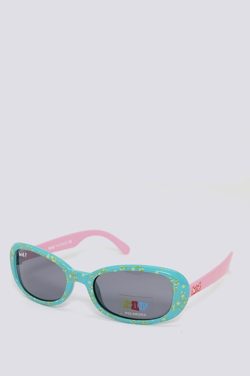 Kids SS13 Polarized Sunglasses, Pink/Blue
