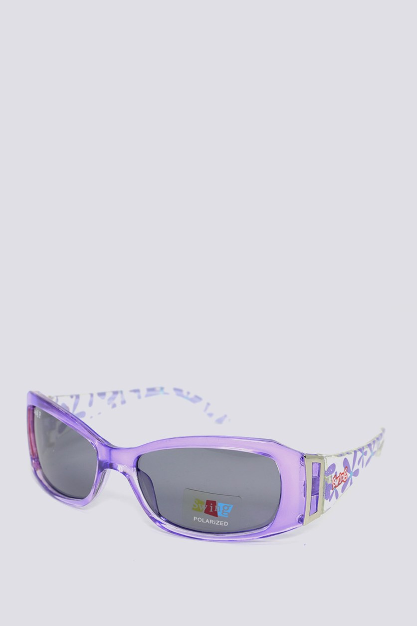 Kids SS14 Polarized Sunglasses, Purple/Transparent