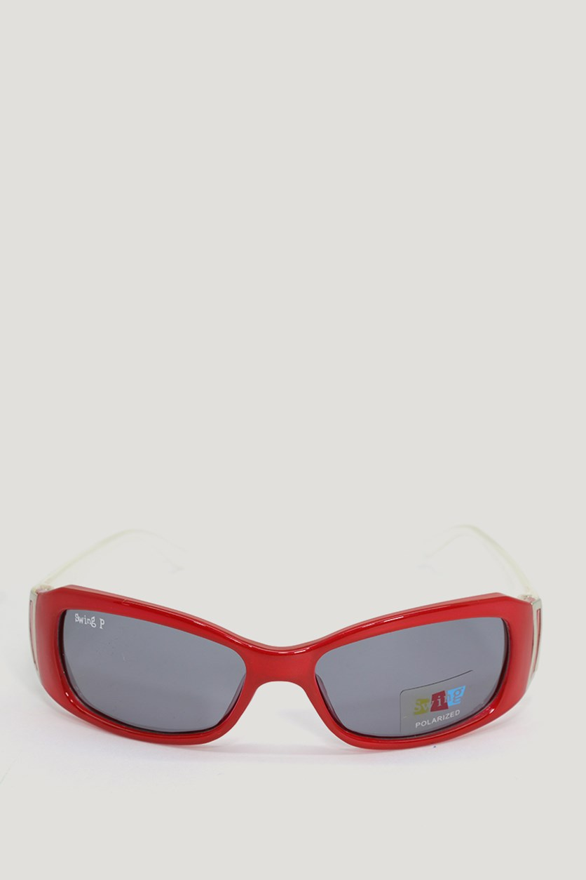 Kids Girl's SS14 Polarized Sunglasses, Red/Pearl