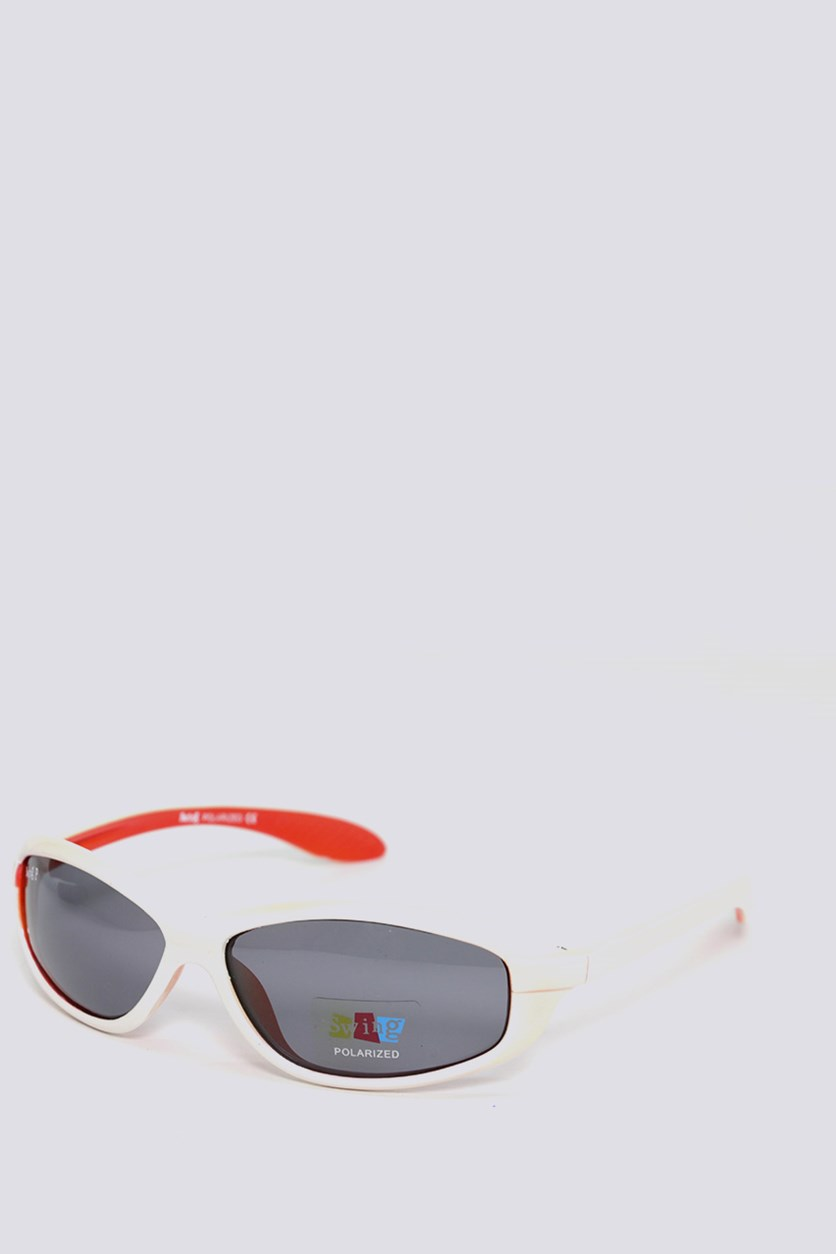 Kids SS15 Polarized Sunglasses, Ivory/Red