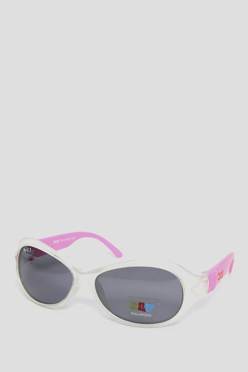 Kids SS20 Polarized Sunglasses, Pink/White