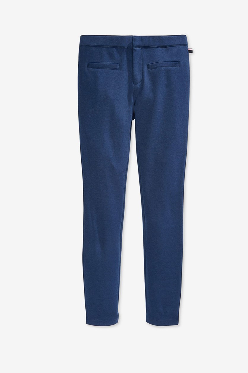 Big Girls Core Ponte Pants, Med Navy