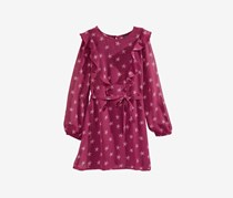 Tommy Hilfiger Girl's Star-Print Dress, Cranberry