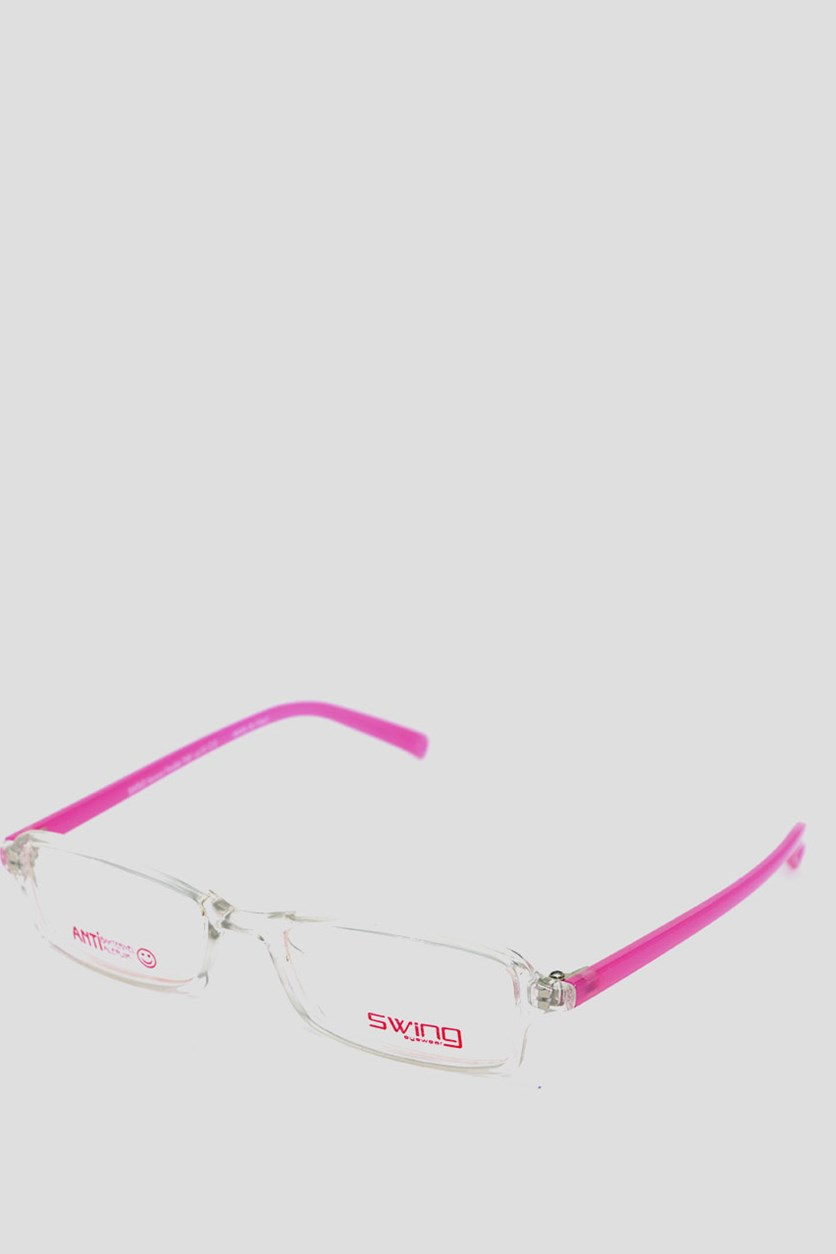 Eyewear Memory Flexible Frames, Pink/Transparent