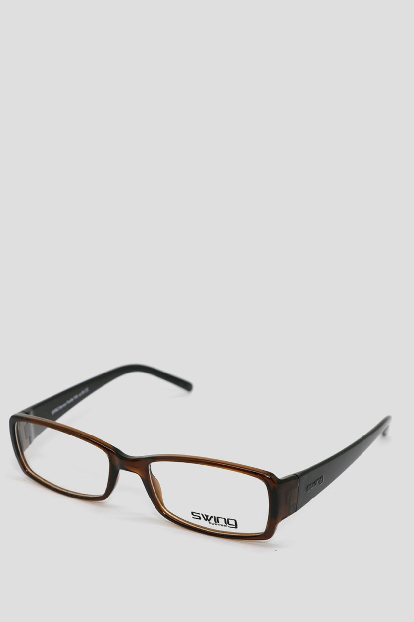 Eyewear Memory Flexible Frames, Transparent Brown