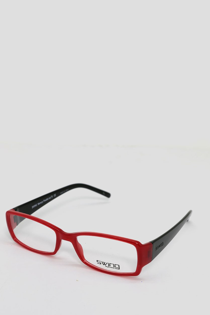 Eyewear Memory Flexible Frames, Red/Black