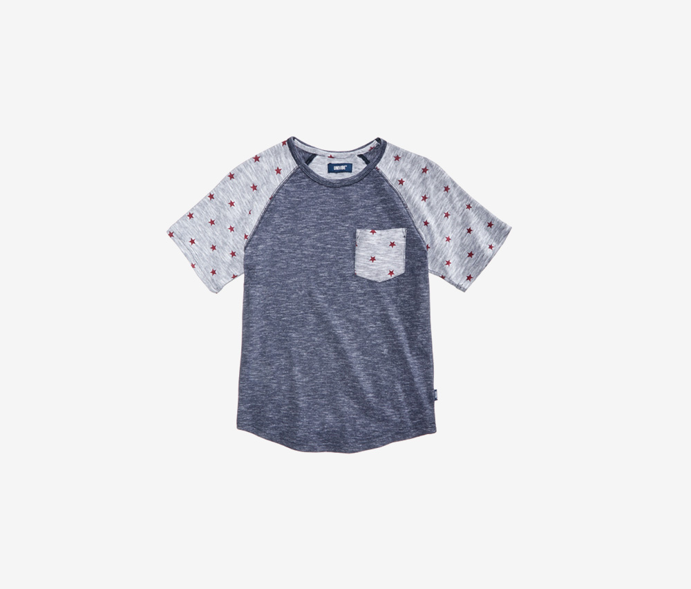 Big Boys Printed Ragland T-Shirt, Charcoal