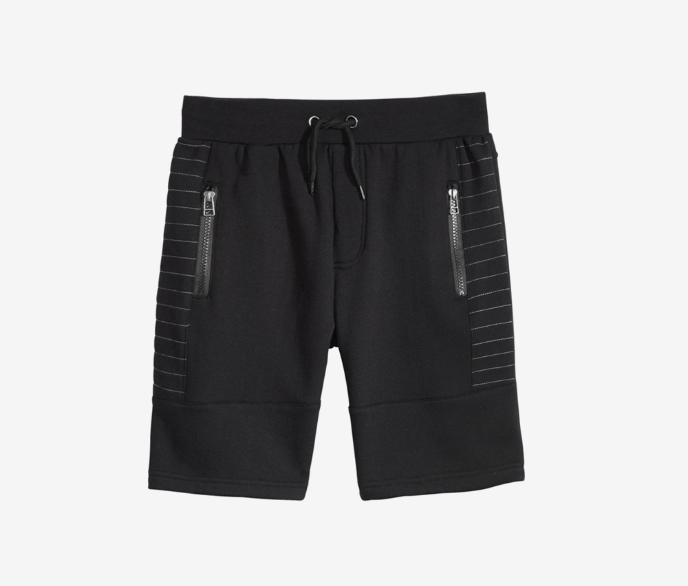 KiDalton Zip-Pocket Shorts, Black