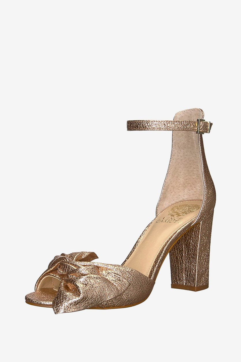 Carrelen Knotted Dress Sandals, Beaming Blush