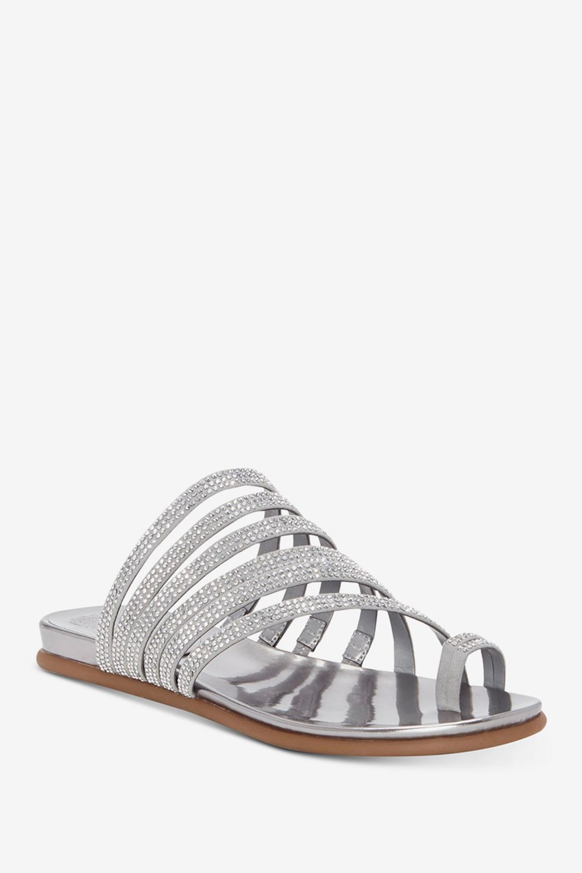 Edwinny Slide Sandals, Radiant Silver
