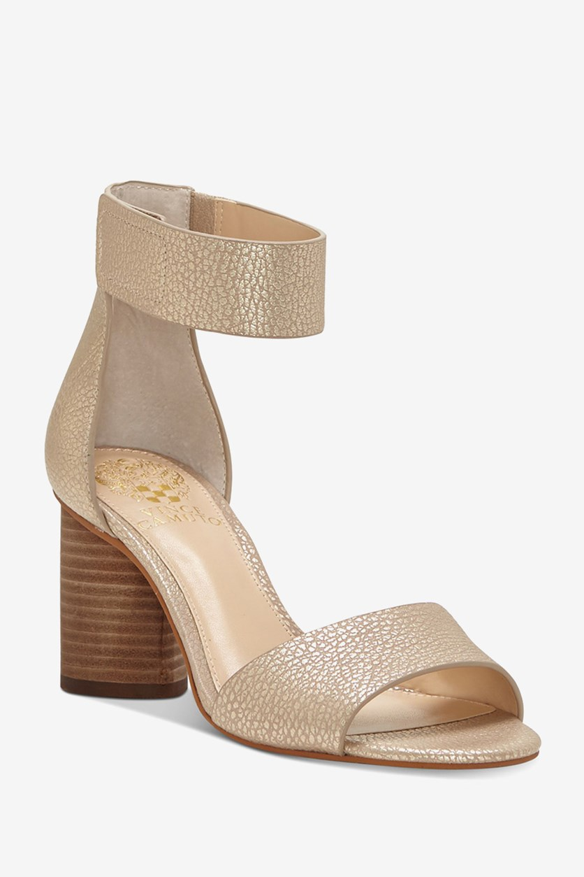 Jacon Ankle Strap Sandals, Metal Sand