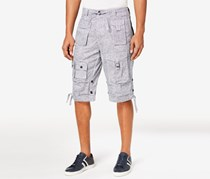 Sean John Men's Classic Flight Cargo Short, Black/White