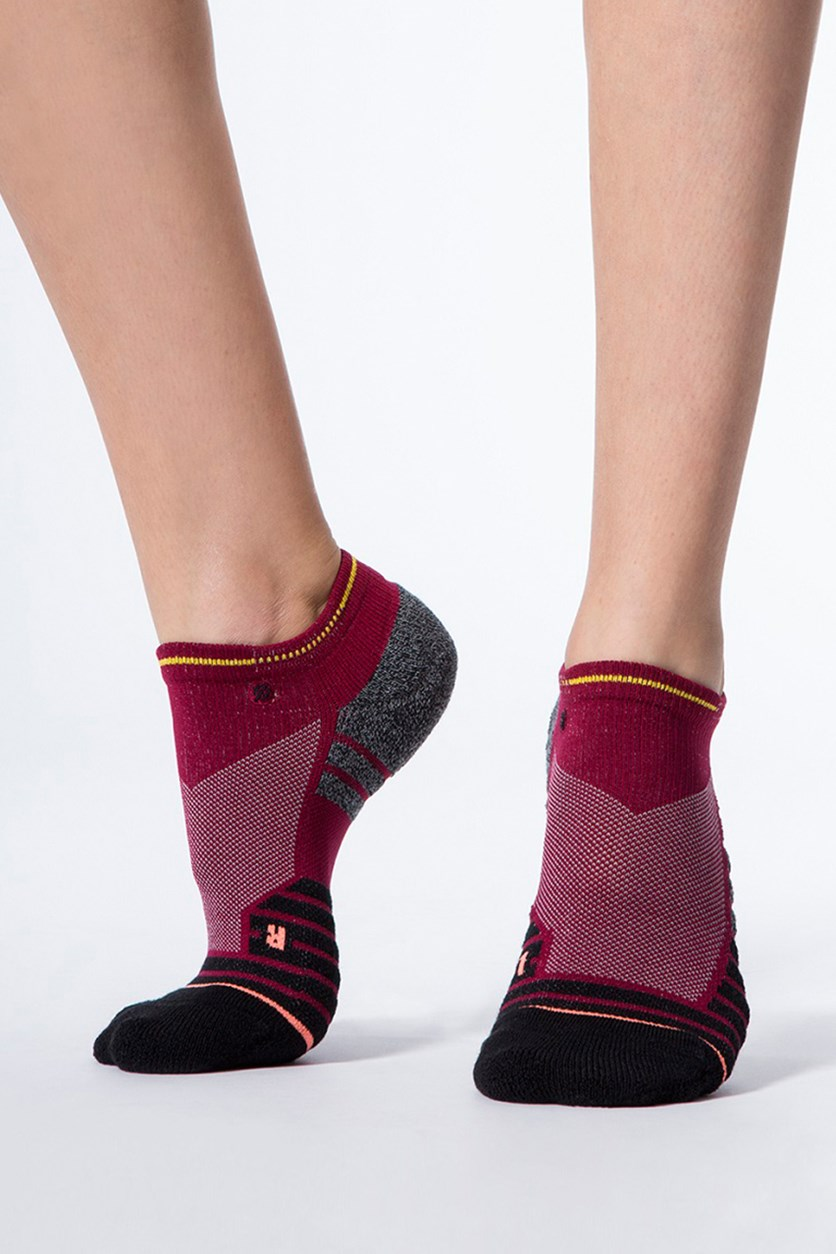 Endorphin Low Sock, Burgundy Combo