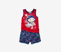 Justice League 2-Pc. Wonder Woman Tank Top, Bright Red