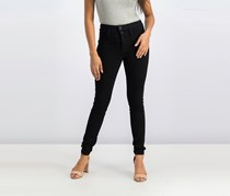 Black Daisy Juniors' Blake Stacked-Waist Skinny Jeans, Black
