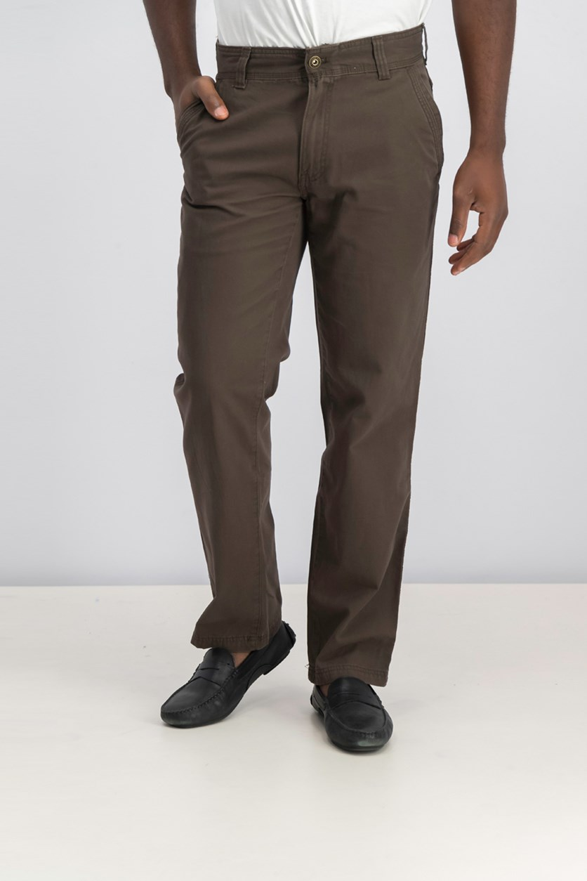 Men's Canvas Terrain Pants, Olive Brown