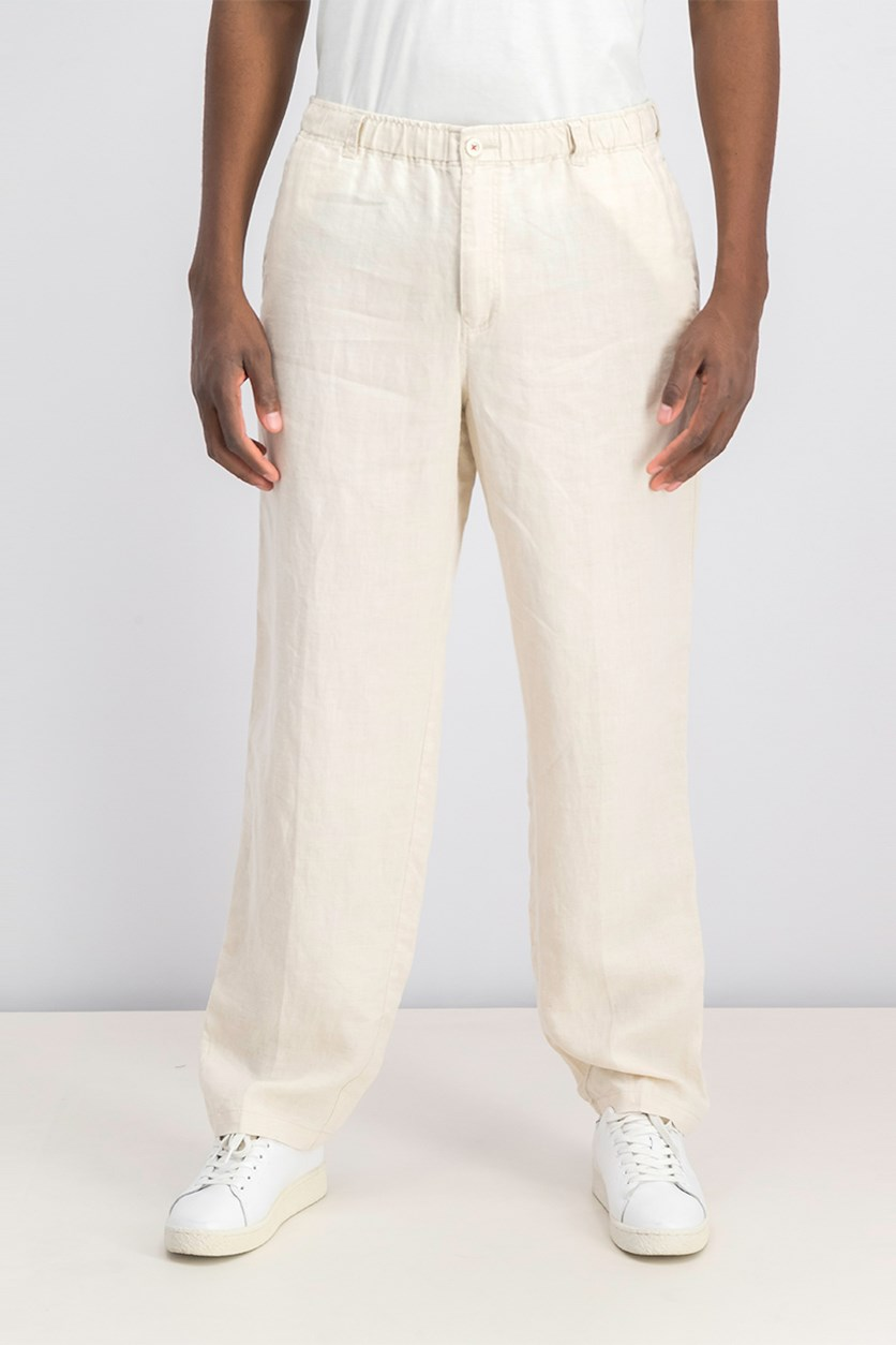 Men's Casual Linen On The Beach Pants, Natural