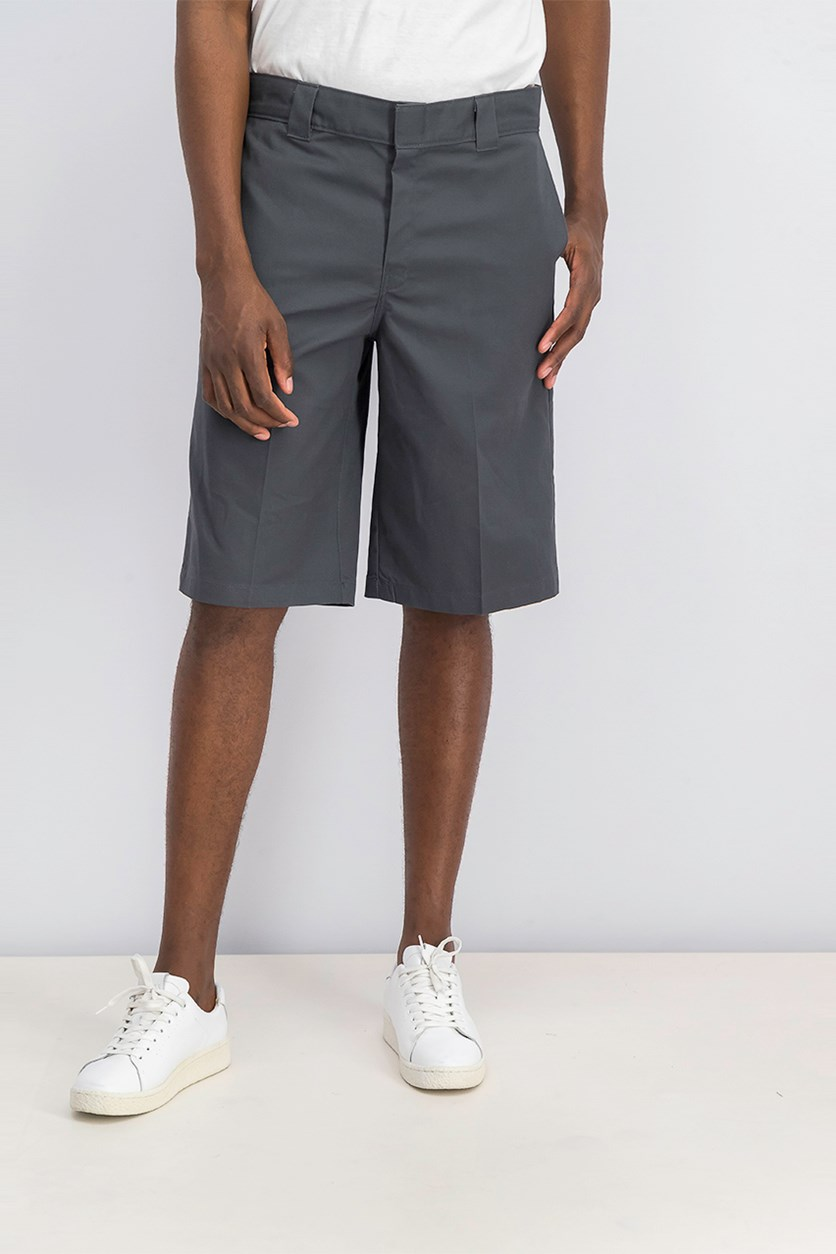 Men's Flex Relaxed-Fit Twill Work Shorts, Charcoal