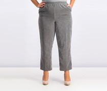 Alfred Dunner Pull-On Solid Pants, Grey
