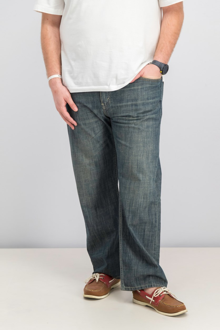 Mens 569 Loose Straight-Fit Static, Grey