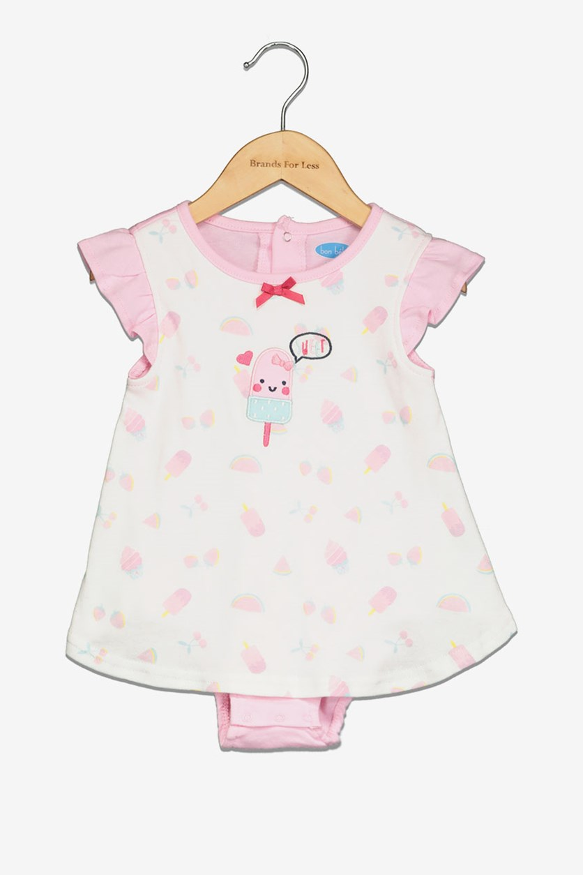 Toddler Girl's Embroidered Sweet Romper, Pink