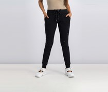by Almost Famous Lace-Up Ripped Jogger Pants, Black
