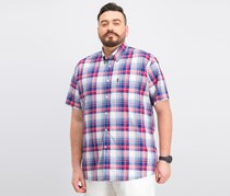 Barbour Men's Gerald Plaid Shirt, Red/Blue Combo