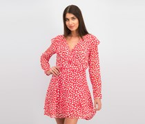 Free People Red Frenchie Mini Wrap Dress, Red