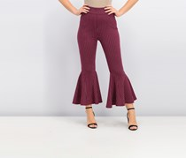 Free People Mari Ponte Pants, Winterberry