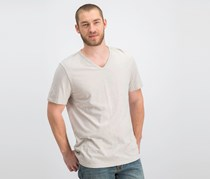 Theory Men's V-Neck Short Sleeve T-Shirt, Light Grey