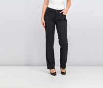Lee Platinum Label Madelyn Straight-Leg Trousers, Charcoal