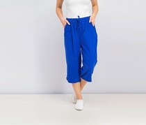 Karen Scott Cotton Drawstring Capri Pants, Ultra Blue