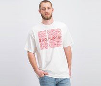Jem Men's Stay Hungry Graphic T-Shirt, White