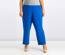 Alfred Dunner Plus Size Cropped Pull-On Pant,  Royal