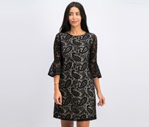 Tommy Hilfiger Lace Bell Sleeve A-Line Cocktail Dress, Black
