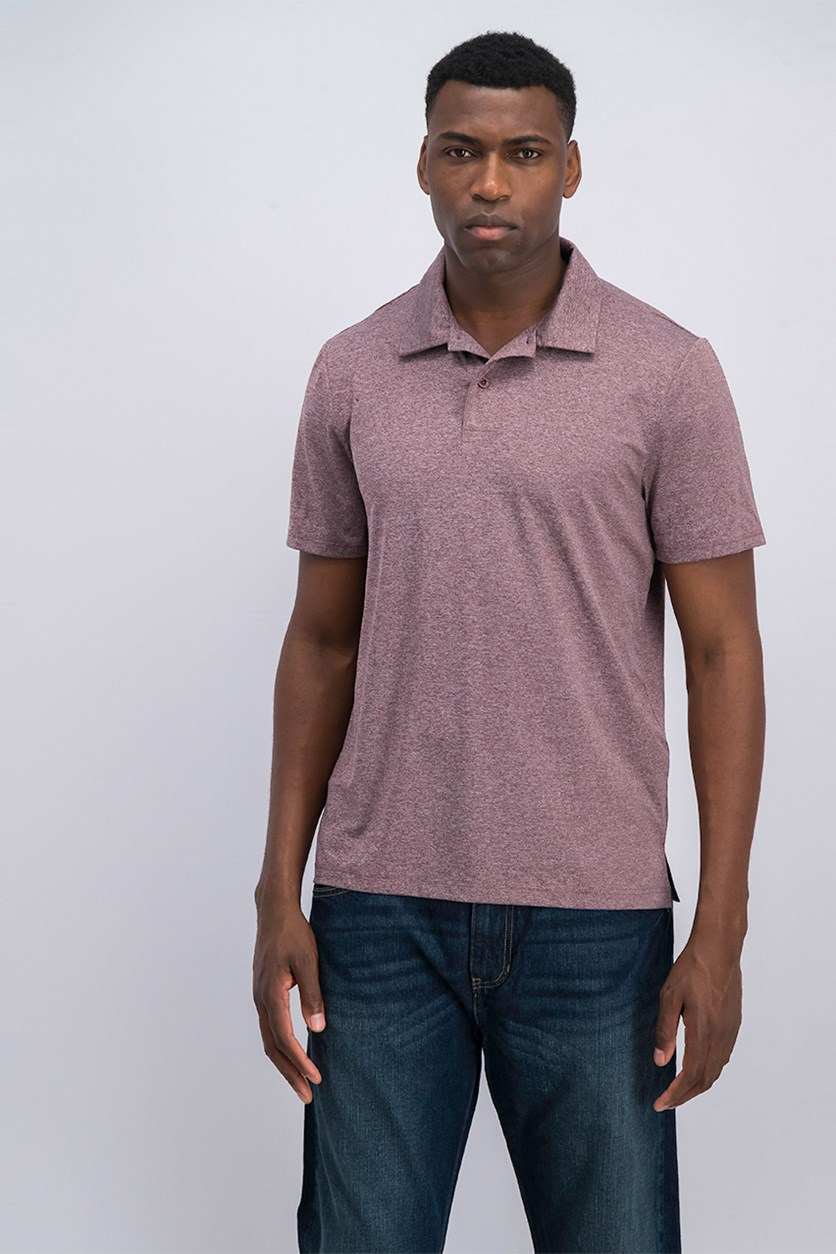 Men's Techno Mesh Polo Shirt, Heather Brown