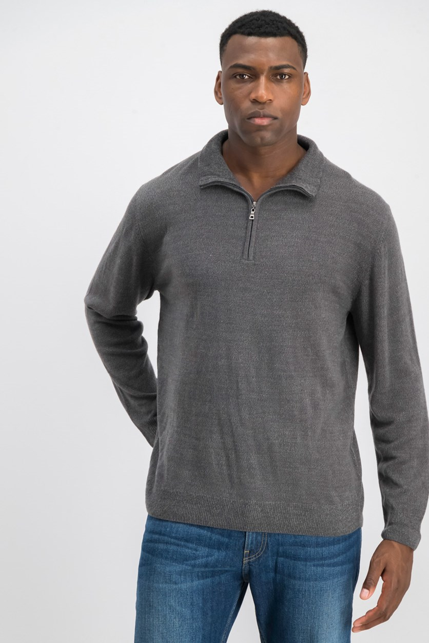 Mens Soft Touch Pullover Sweater, Gray