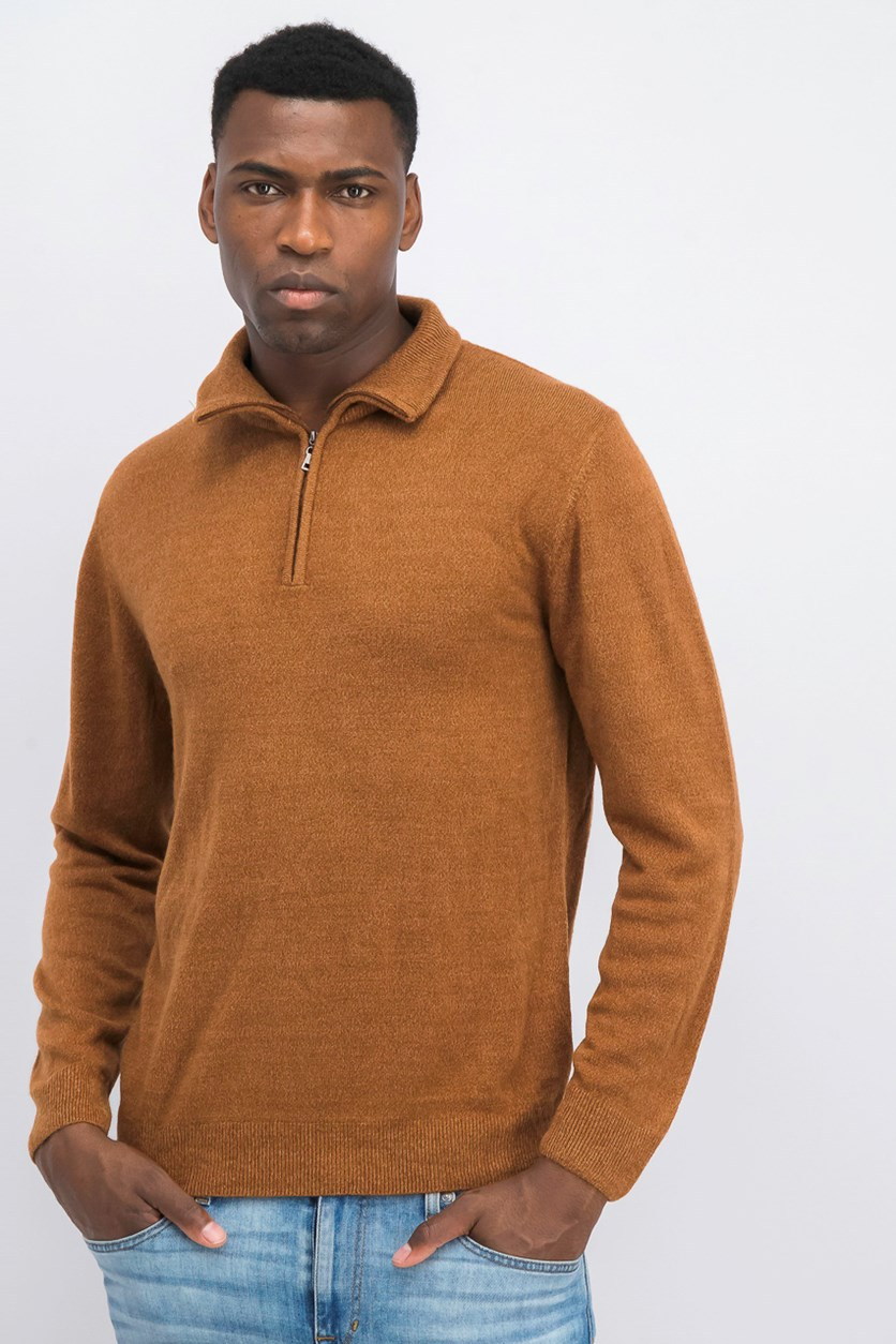 Men's Soft Touch Pullover Sweater, Spice Heather
