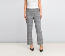 Women's Glen Plaid Modern Ankle Pants, Black Combo