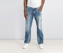 Buffalo David Bitton Men's Straight Fit Jeans, Blue Washed
