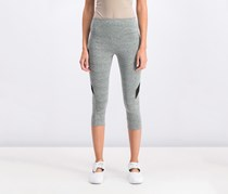 Material Girl Juniors Mesh-Inset Cropped Leggings, Heather Grey